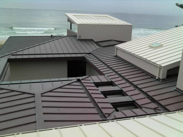 Snap lock metal roof installation is fast
