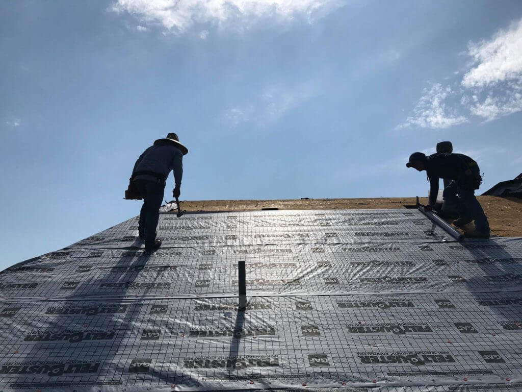 installing GAF materials on house